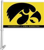 "COLLEGIATE Iowa Gold 2-Sided 11"" x 18"" Car Flag"