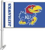 "COLLEGIATE Kansas 2-Sided 11"" x 18"" Car Flag"