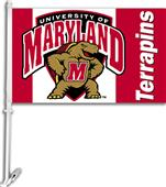 "COLLEGIATE Maryland 2-Sided 11"" x 18"" Car Flag"