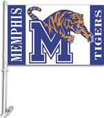 "COLLEGIATE Memphis 2-Sided 11"" x 18"" Car Flag"