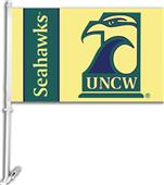 "COLLEGIATE UNC Wilmington 11"" x 18"" Car Flag"