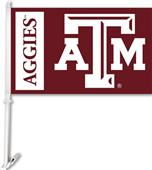 "COLLEGIATE Texas A&M 2-Sided 11"" x 18"" Car Flag"