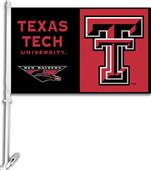 "COLLEGIATE Texas Tech 2-Sided 11"" x 18"" Car Flag"