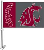 "COLLEGIATE Washington State 11"" x 18"" Car Flag"