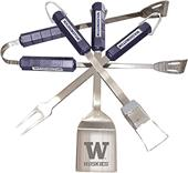 COLLEGIATE Washington 4 Piece BBQ Set