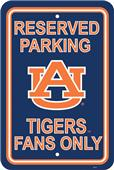 COLLEGIATE Auburn Plastic Parking Sign