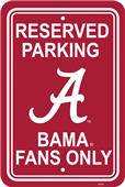 COLLEGIATE Alabama Plastic Parking Sign