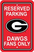 COLLEGIATE Georgia Plastic Parking Sign