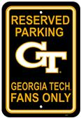 COLLEGIATE Georgia Tech Plastic Parking Sign