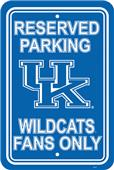 COLLEGIATE Kentucky Plastic Parking Sign