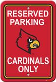 COLLEGIATE Louisville Plastic Parking Sign