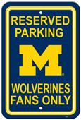 Collegiate Michigan Plastic Parking Sign