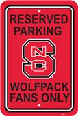 COLLEGIATE N. Carolina State Plastic Parking Sign