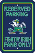 COLLEGIATE Notre Dame Plastic Parking Sign