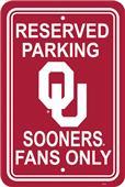COLLEGIATE Oklahoma Plastic Parking Sign
