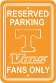 COLLEGIATE Tennessee Plastic Parking Sign