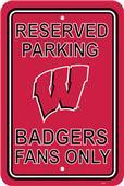 COLLEGIATE Wisconsin Plastic Parking Sign