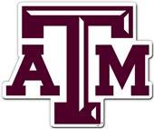 """COLLEGIATE Texas A&M 12"""" Vinyl Magnet"""