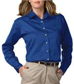 Blue Generation LS Teflon Treated Twill Blouse