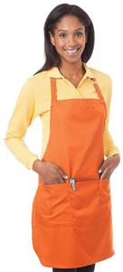 WHITE (PACK OF 6 APRONS)
