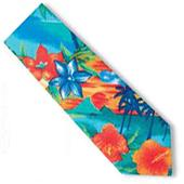 Blue Generation Men's Tropic Tropical Print Ties