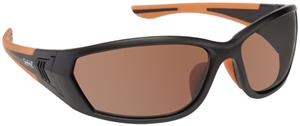 1. MATTE BLACK-ORANGE FRAME/BROWN LENS