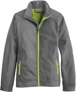 CHARCOAL/LIME ZIPPER