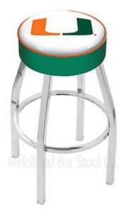 UNIVERSITY OF MIAMI (FL) - CHROME STOOL