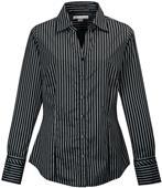 TRI MOUNTAIN Taylor Women's Striped Dress Shirt