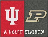 Fan Mats Indiana/Purdue House Divided Mat