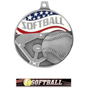 SILVER MEDAL/ULTIMATE SOFTBALL RIBBON