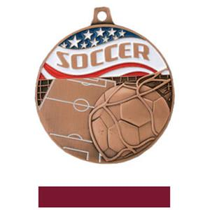BRONZE MEDAL/MAROON RIBBON