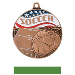 BRONZE MEDAL/GREEN RIBBON