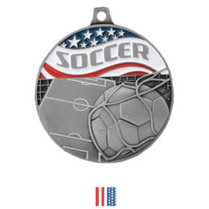 SILVER MEDAL/FLAG RIBBON