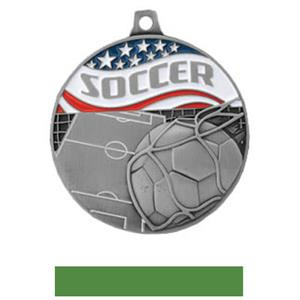 SILVER MEDAL/GREEN RIBBON