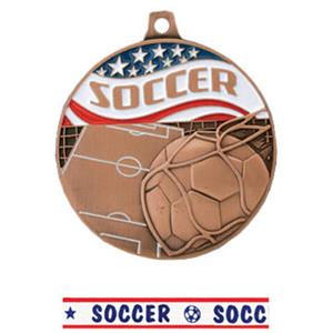 BRONZE MEDAL/AMERICANA SOCCER RIBBON