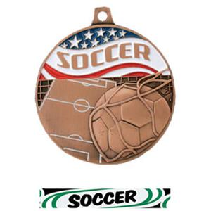 BRONZE MEDAL/DELUXE SOCCER RIBBON