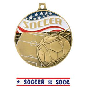 GOLD MEDAL/AMERICANA SOCCER RIBBON