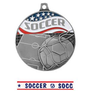 SILVER MEDAL/AMERICANA SOCCER RIBBON