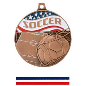 BRONZE MEDAL/RED WHITE &amp; BLUE RIBBON