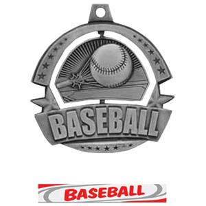 SILVER MEDAL / DELUXE BASEBALL RIBBON