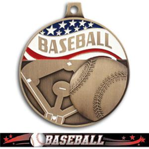 BRONZE MEDAL/ULTIMATE BASEBALL RIBBON