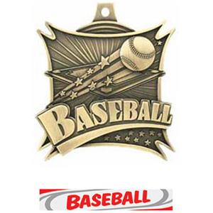 GOLD MEDAL/DELUXE BASEBALL RIBBON