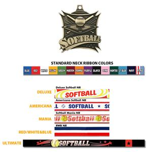 GOLD MEDAL/AMERICANA SOFTBALL RIBBON