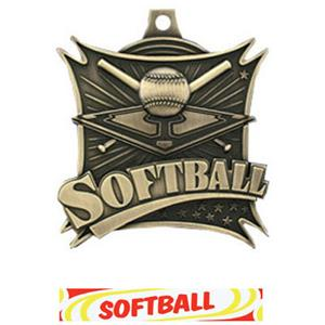 GOLD MEDAL/DELUXE SOFTBALL RIBBON