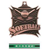 "Hasty Awards 2.5"" Softball Xtreme Medals M-701"