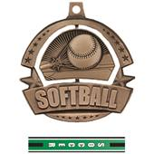 Hasty Awards Spinner Softball Medals M-720