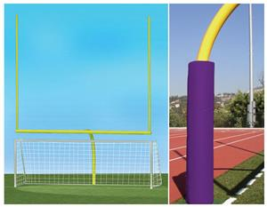 YELLOW GOAL/PURPLE PADDING