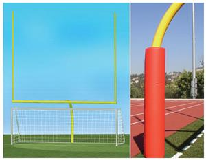 YELLOW GOAL/RED PADDING