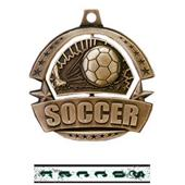 "Hasty Awards 2.25"" Spinner Soccer Medals M-720S"